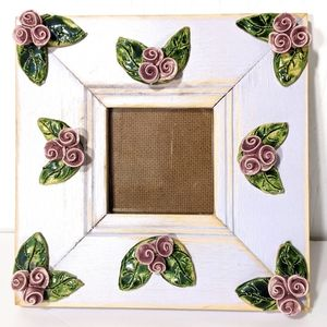 Lesal Rose Ceramic Picture Frame